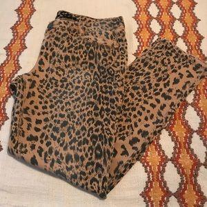 Vanilla Star Leopard Print Skinny Jeans Size 13